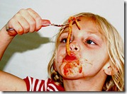 girl eating spaghetti pink sherbet photography cc